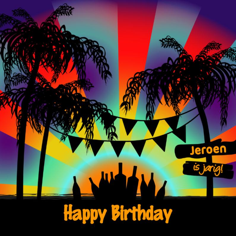 Verjaardagskaarten - Verjaardag BEACH PARTY
