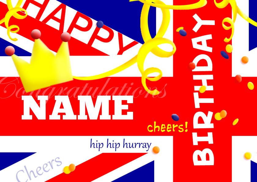 Verjaardagskaarten - Verjaardag Birthday Flag