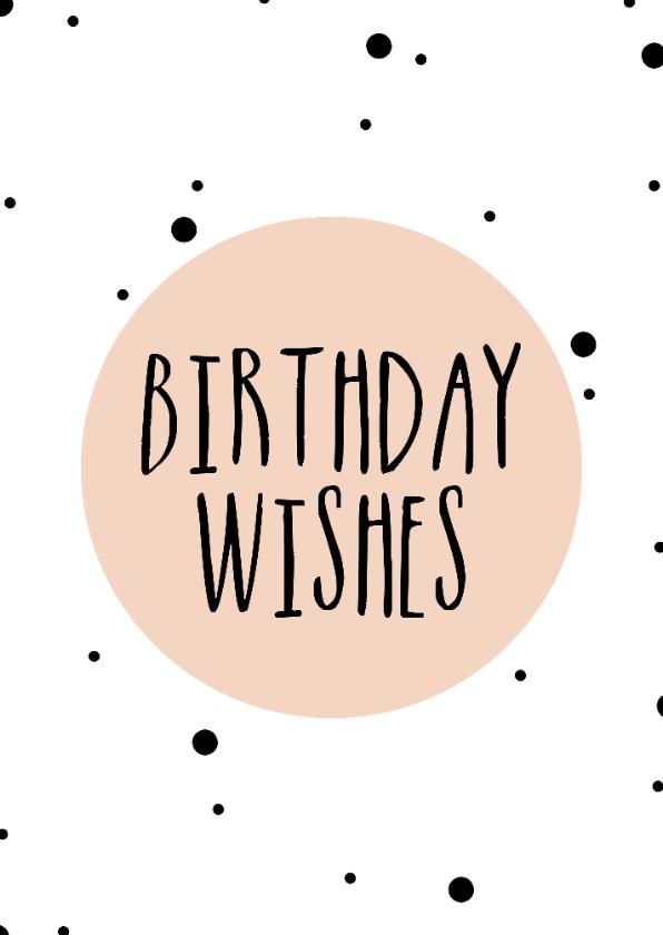 Verjaardagskaarten - Verjaardag - Birthday wishes - Roze stipjes
