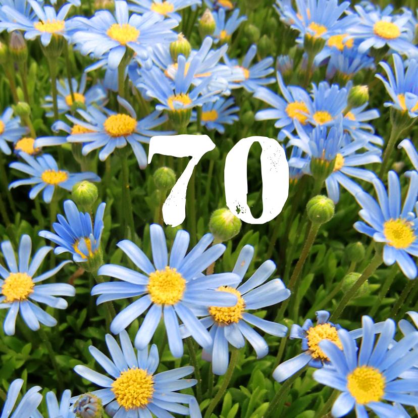 Verjaardagskaarten - Verjaardag Blauwe margrietjes