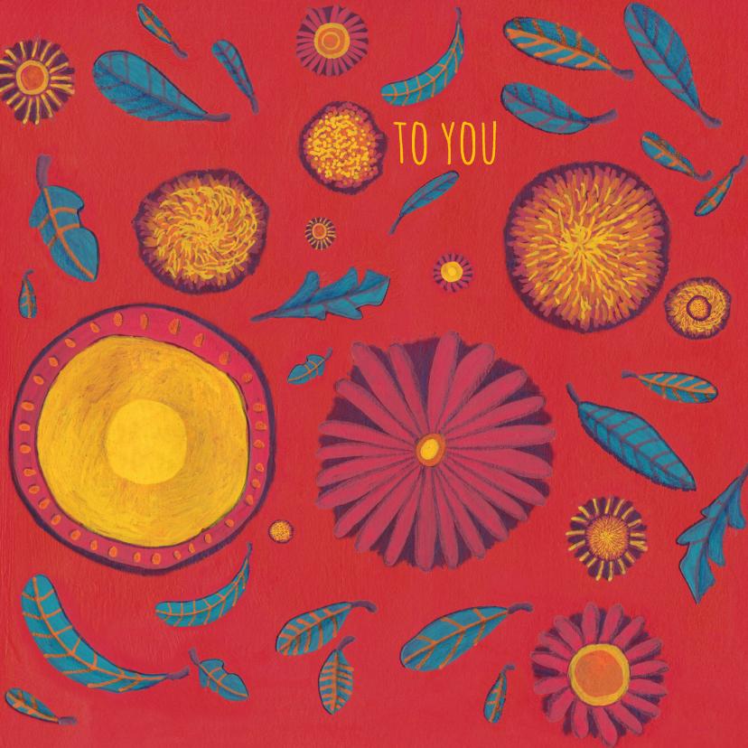 Verjaardagskaarten - verjaardag-bloemen to you-KK