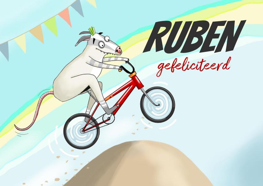 Verjaardagskaarten - Verjaardag - BMX racebeest