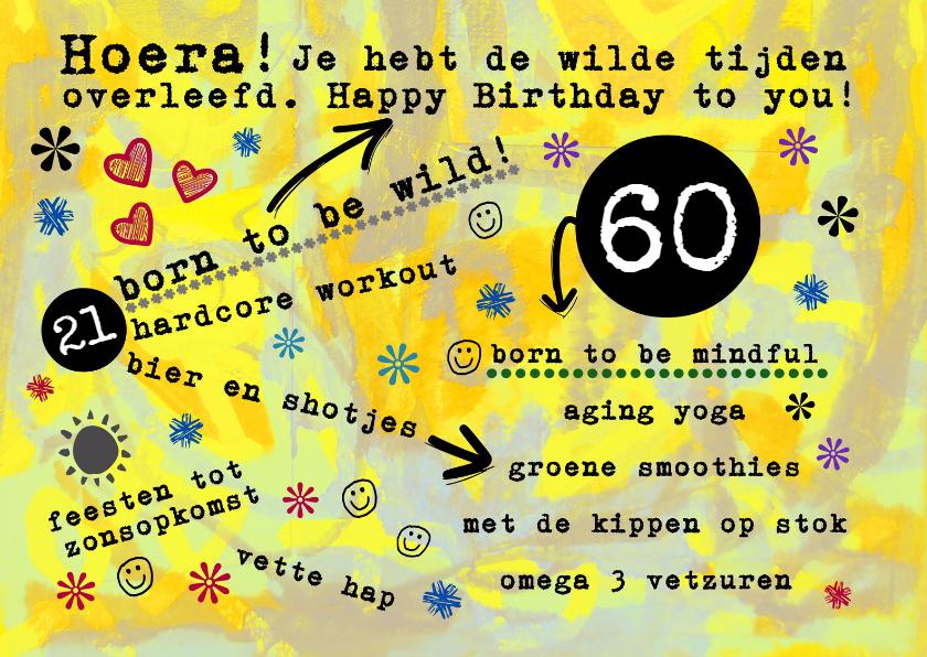 Verjaardagskaarten - Verjaardag born to be wild - IW