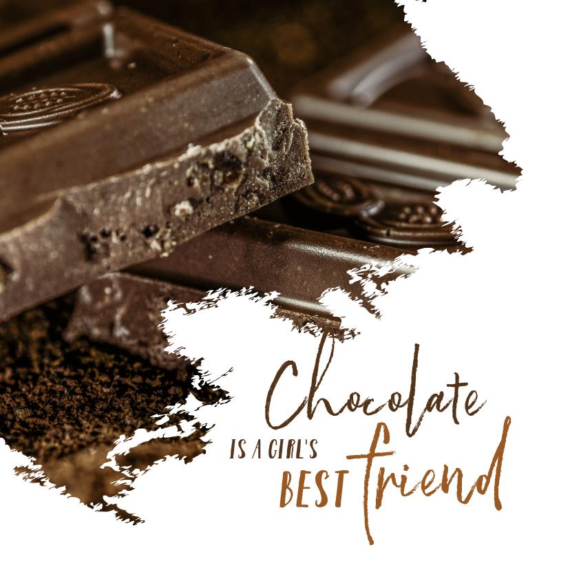 Verjaardagskaarten - Verjaardag chocolate is a girl's best friend