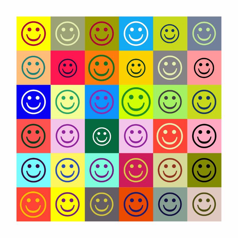 Verjaardagskaarten - Verjaardag colorful smileys IW