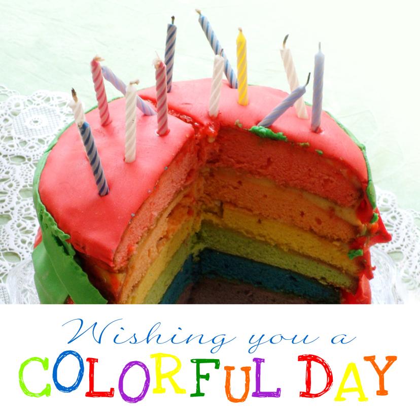 Verjaardagskaarten - Verjaardag colorfull day