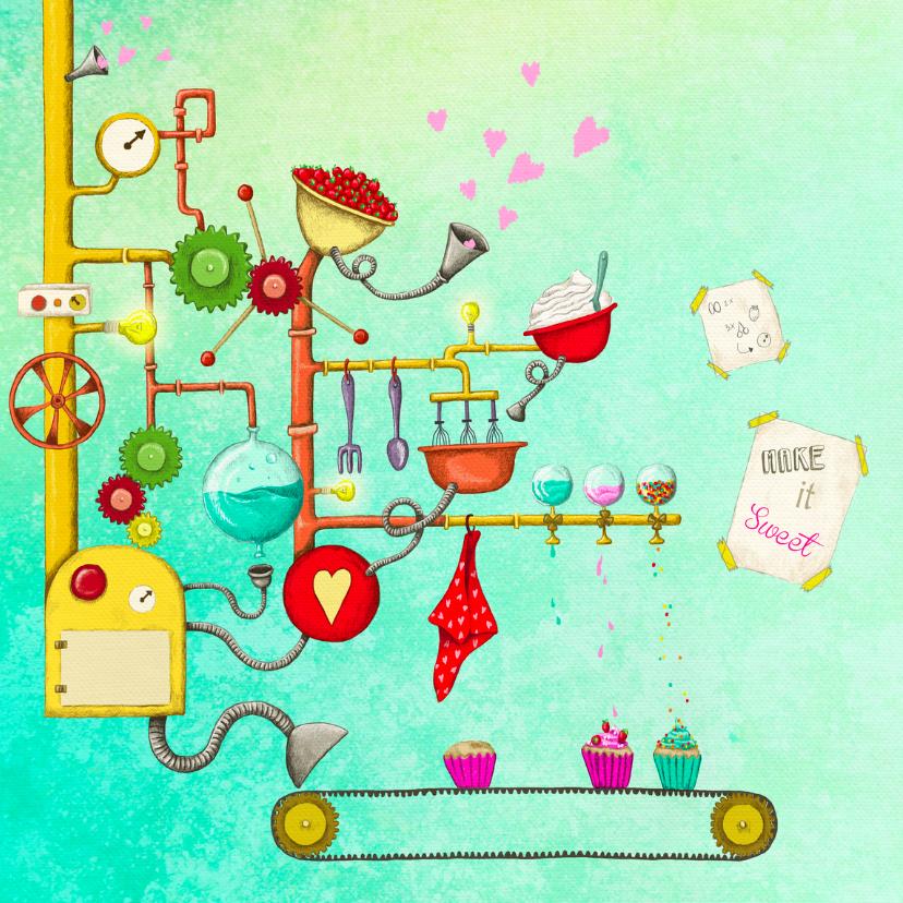 Verjaardagskaarten - Verjaardag cupcakes