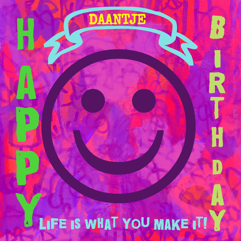 Verjaardagskaarten - Verjaardag Daantjuh IW