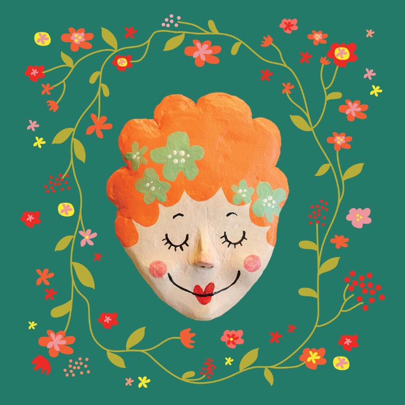 Verjaardagskaarten - verjaardag dame bloemen
