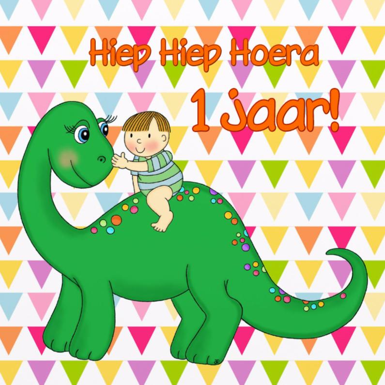 Verjaardagskaarten - Verjaardag Dino Jongen - TbJ