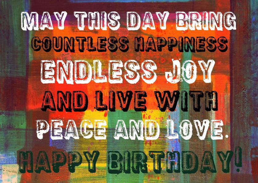 Verjaardagskaarten - Verjaardag endless joy IW