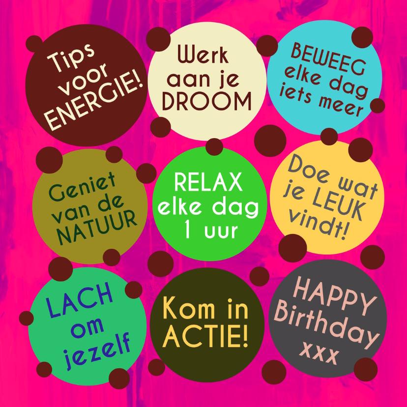 Verjaardagskaarten - Verjaardag Energiek Leven IW