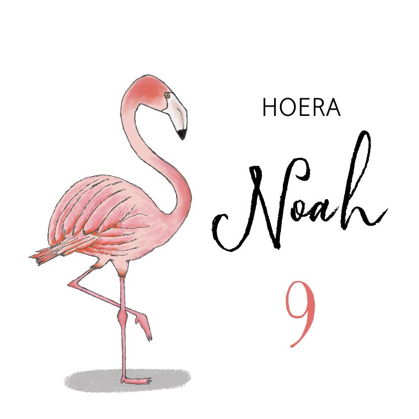 Verjaardagskaarten - Verjaardag flamingo