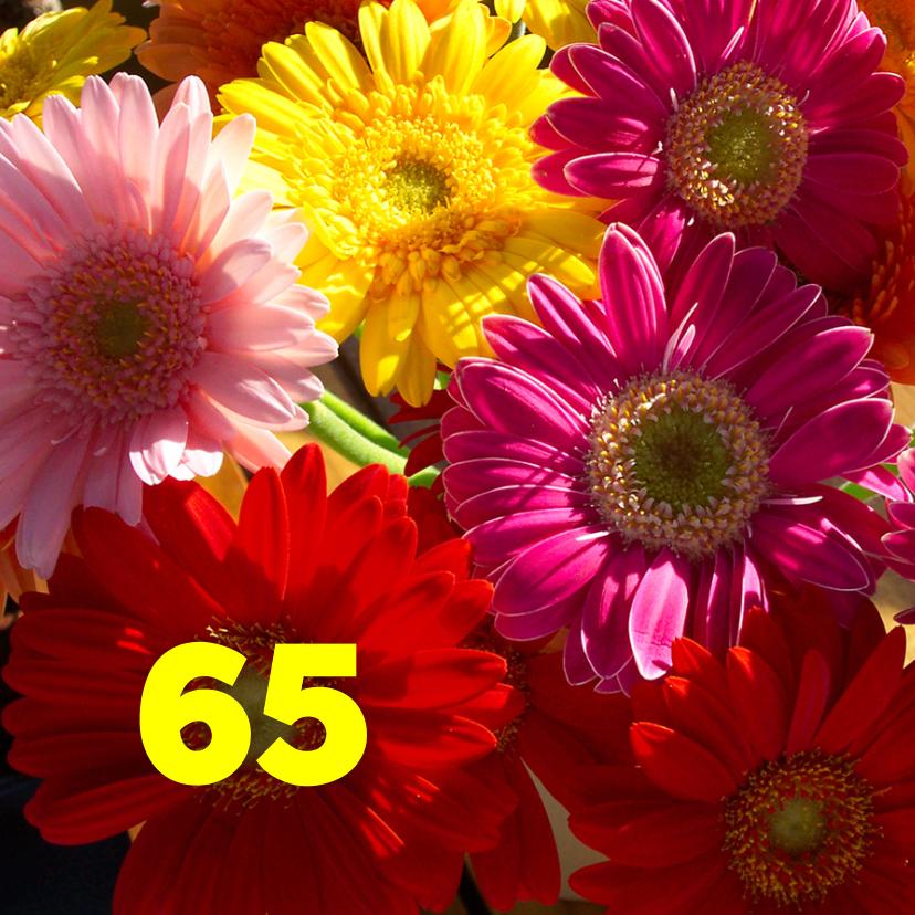 Verjaardagskaarten - Verjaardag Fleurige bloemen
