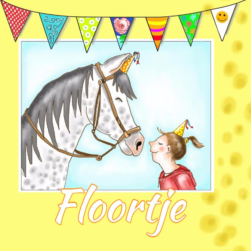 Verjaardagskaarten - Verjaardag - Floortje's paard