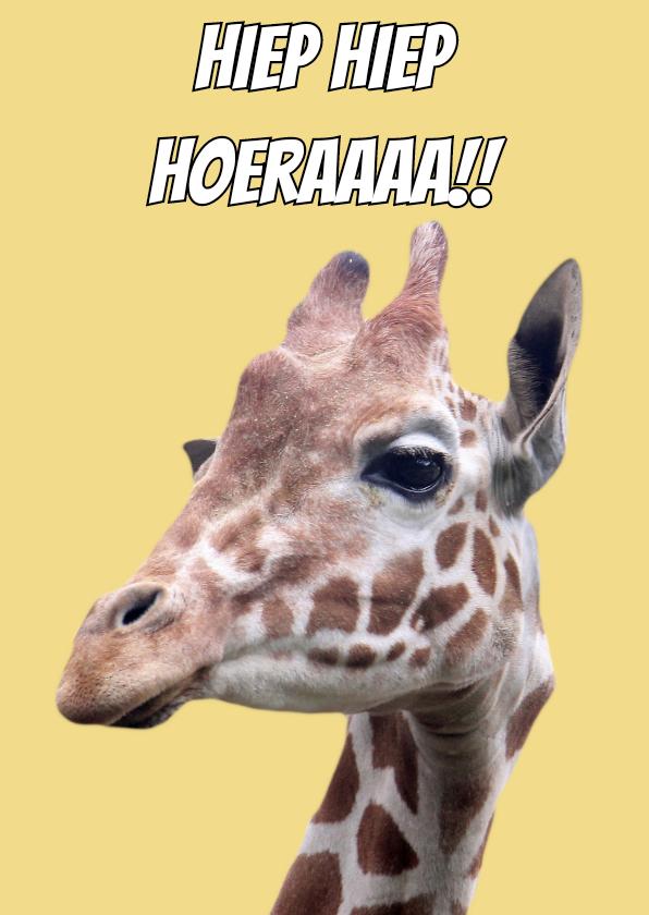 Verjaardagskaarten - Verjaardag Giraf
