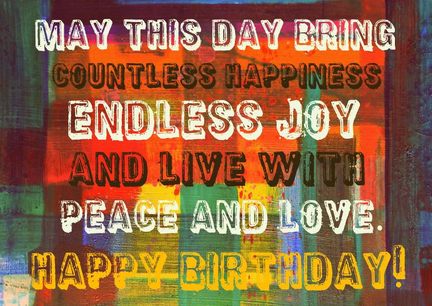 Verjaardagskaarten - Verjaardag happiness IW