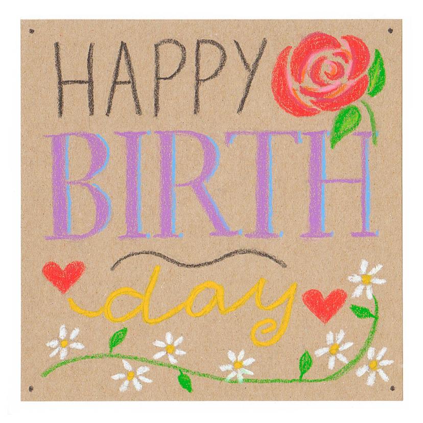 Verjaardagskaarten - verjaardag: Happy birthday