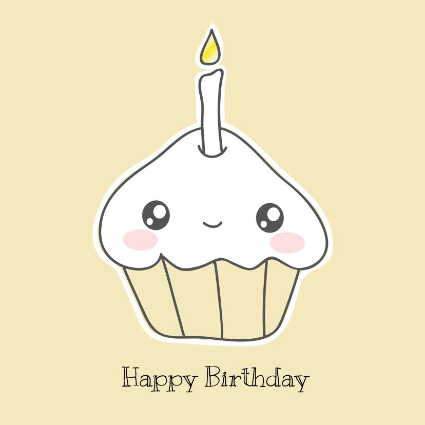 Verjaardagskaarten - Verjaardag - Happy Cupcake