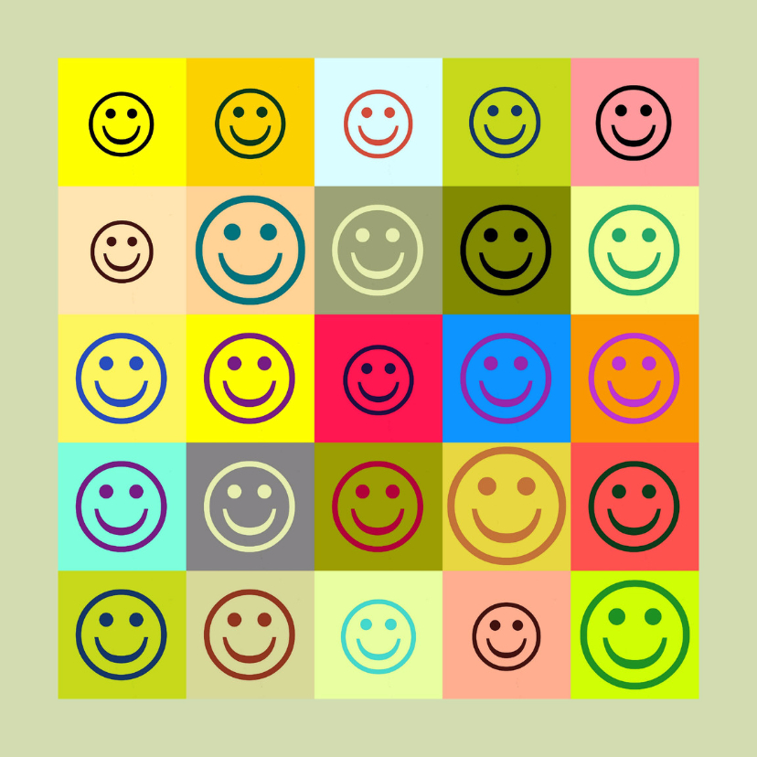 Verjaardagskaarten - Verjaardag Happy Smileys IW