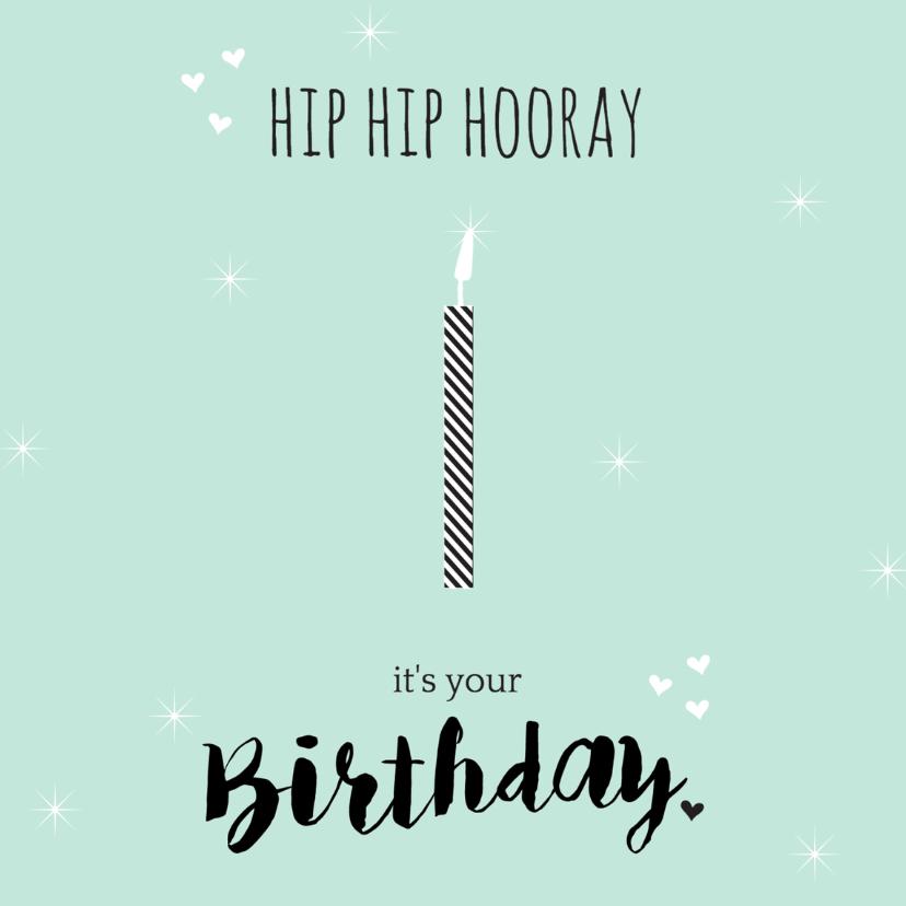 Verjaardagskaarten - Verjaardag hiphiphooray 1 - B