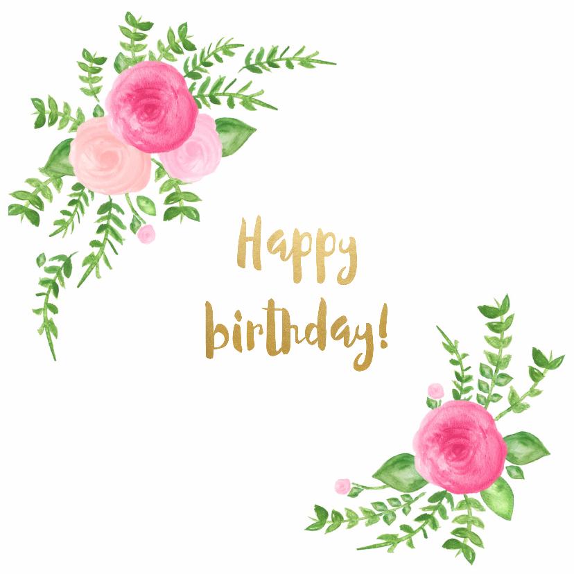 Verjaardagskaarten - Verjaardag hoera bloemen - SU