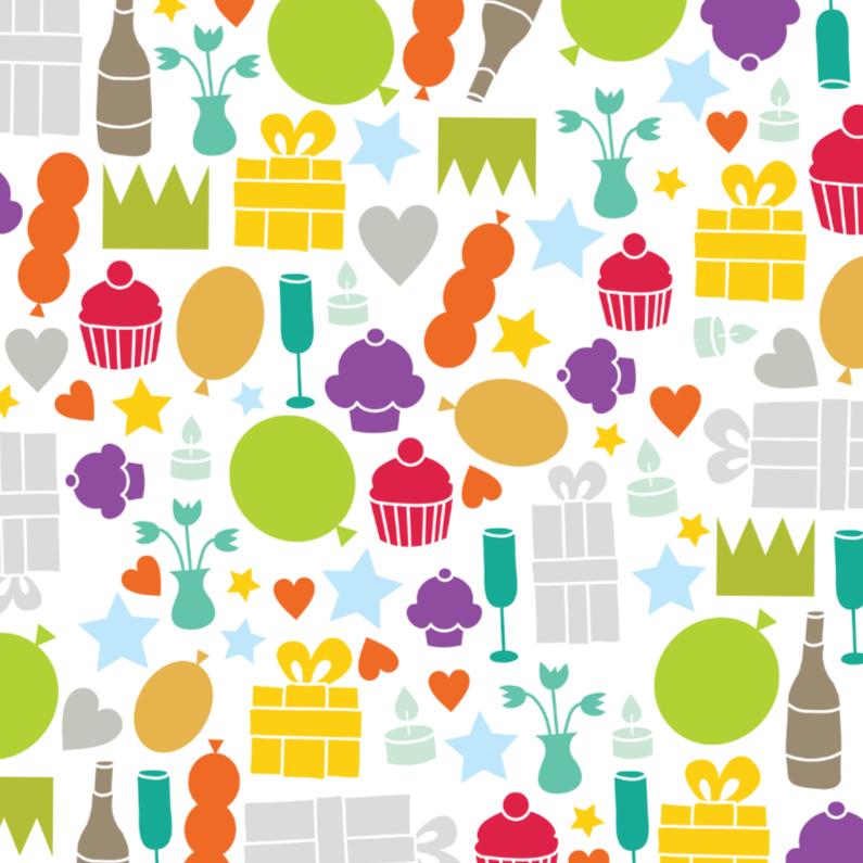 Verjaardagskaarten - Verjaardag Iconen