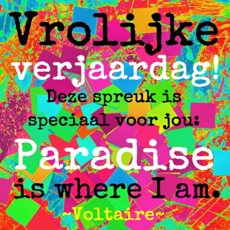 Verjaardagskaarten - Verjaardag in paradise IW