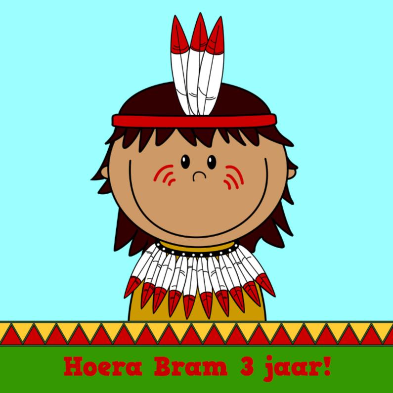 Verjaardagskaarten - Verjaardag indiaan