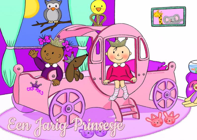 Verjaardagskaarten - Verjaardag jarig Prinsesje - TbJ