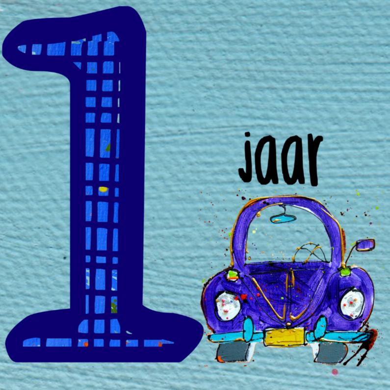 Verjaardag jongen 1 jaar verjaardagskaarten kaartje2go for Poppenhuis kind 2 jaar