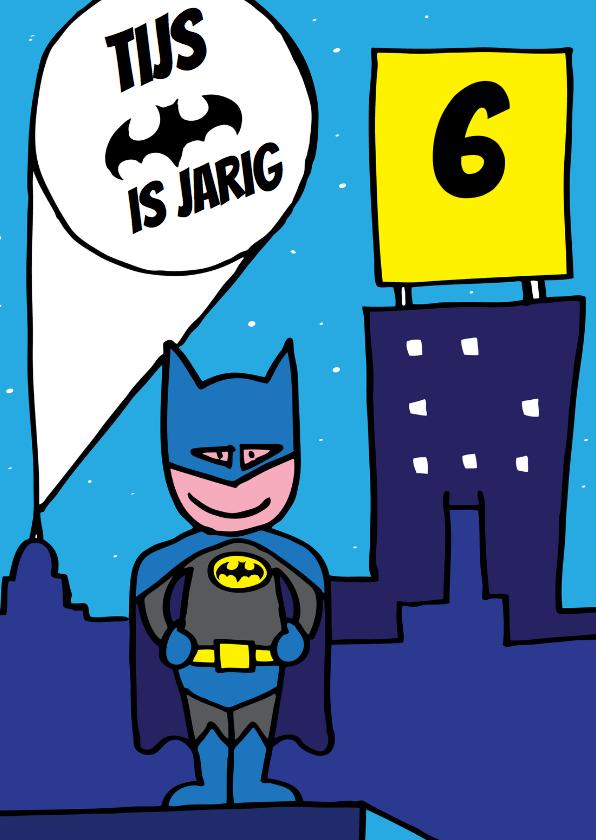 Verjaardagskaarten - verjaardag jongen batman