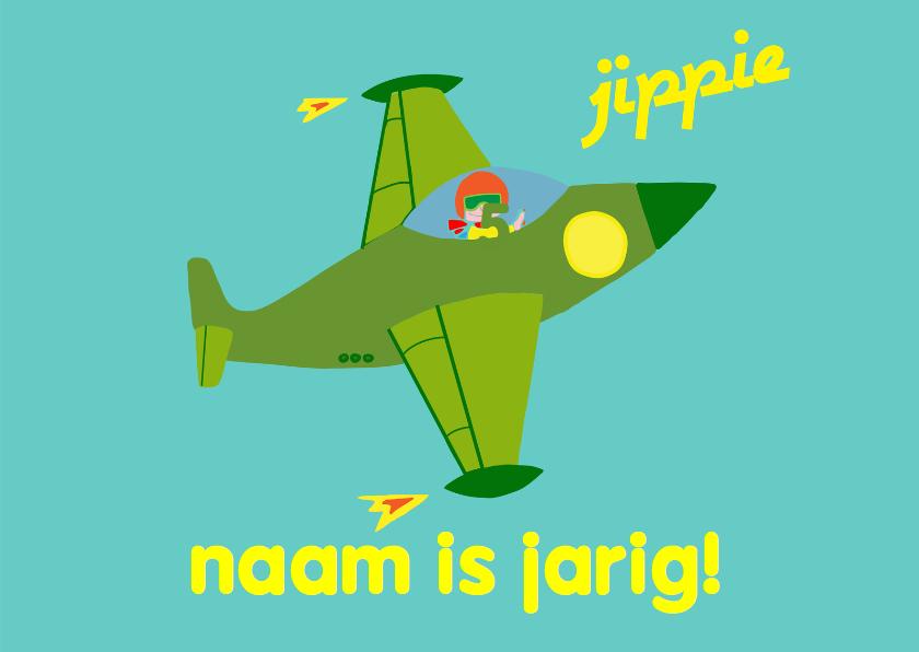 Verjaardagskaarten - verjaardag jongen straaljager