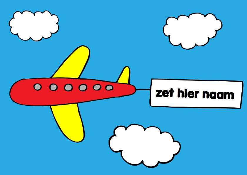 Verjaardagskaarten - verjaardag jongen vliegtuig