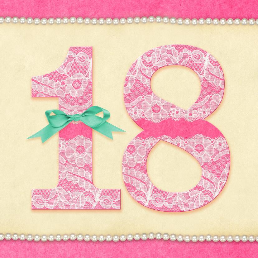 Verjaardagskaarten - Verjaardag Kant & Parels 18