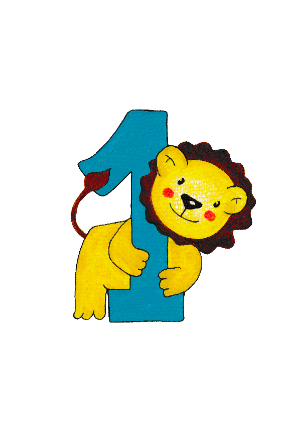 Extreem Verjaardag kind 1 jaar leeuwtje - HR - Verjaardagskaarten - Kaartje2go @WB11