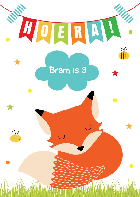 New Verjaardag Kind vosje slinger - Verjaardagskaarten - Kaartje2go &RY57