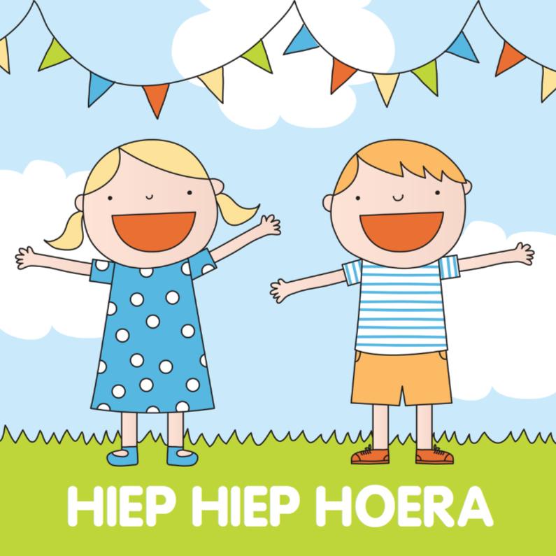 Verjaardagskaarten - Verjaardag Kinderen Hoera