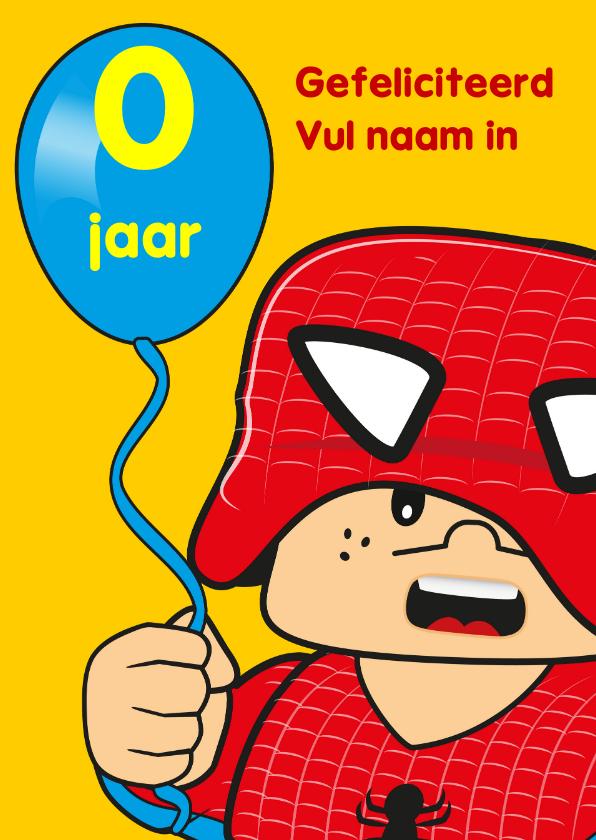 Verjaardagskaarten - verjaardag kinderfeest spiderman G