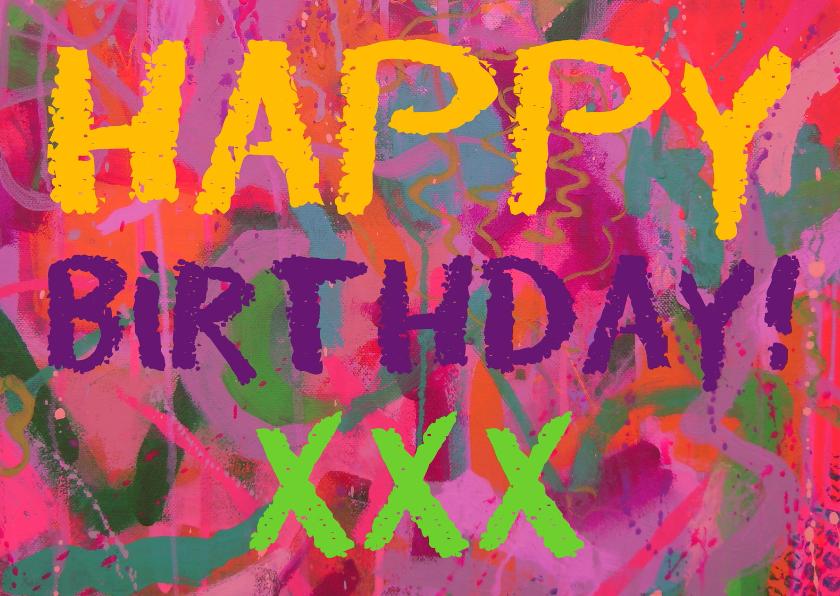 Verjaardagskaarten - Verjaardag knalkleuren IW