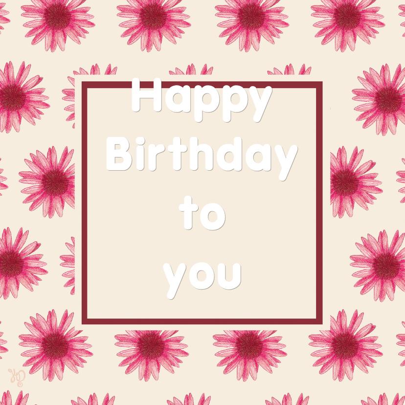 Verjaardagskaarten - Verjaardag kristy's 1 bloem - RN