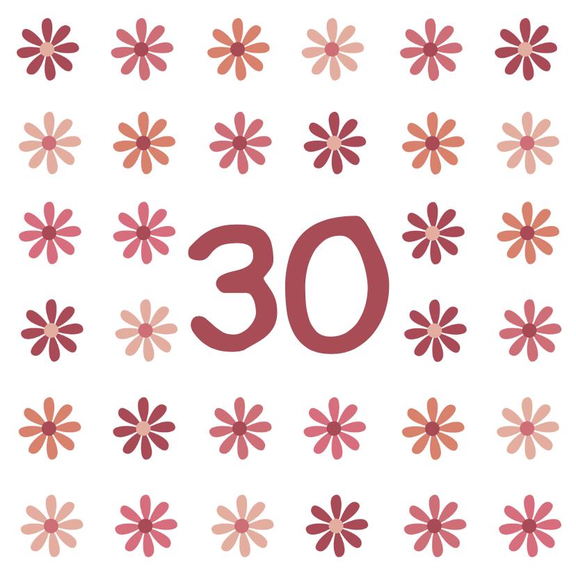 Verjaardagskaarten - verjaardag leeftijd bloem