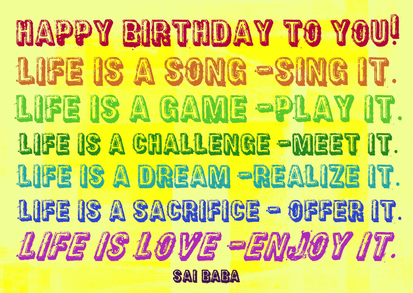 Verjaardag Life is a Song IW  1