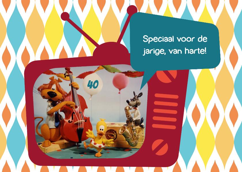 Verjaardagskaarten - Verjaardag Loeki tv feestje -A