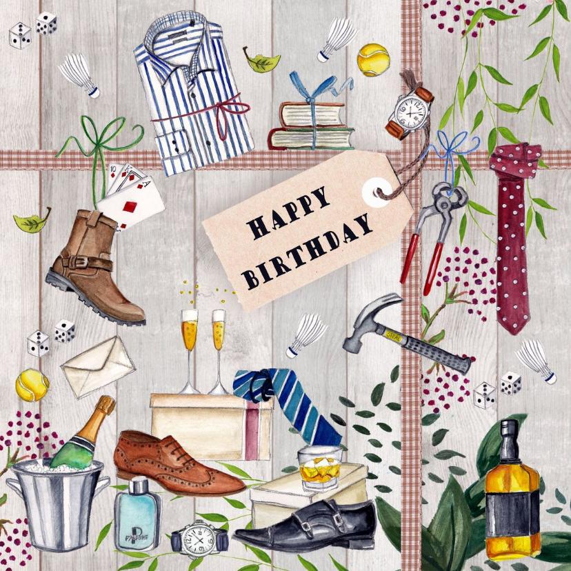 Verjaardagskaarten - Verjaardag Man Classic Feest