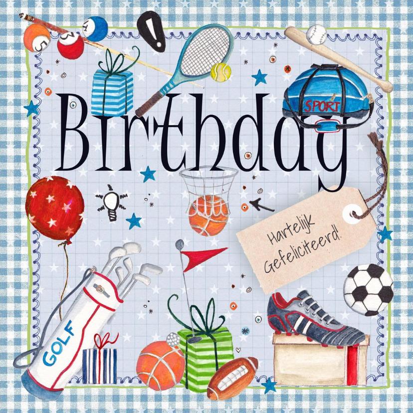 Verjaardagskaarten - Verjaardag Man Sport Sportief