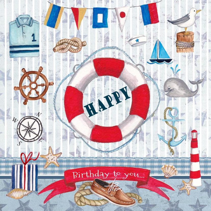 Verjaardagskaarten - Verjaardag Man Zeilen Watersport