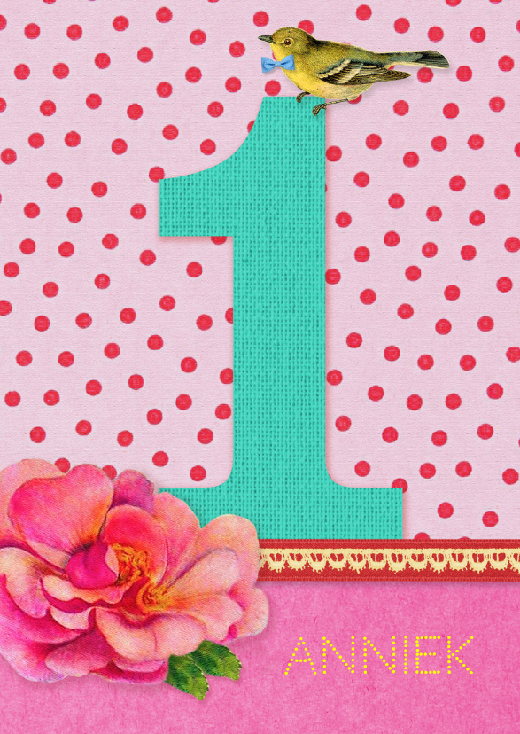 Verjaardagskaarten - Verjaardag Meisje 1