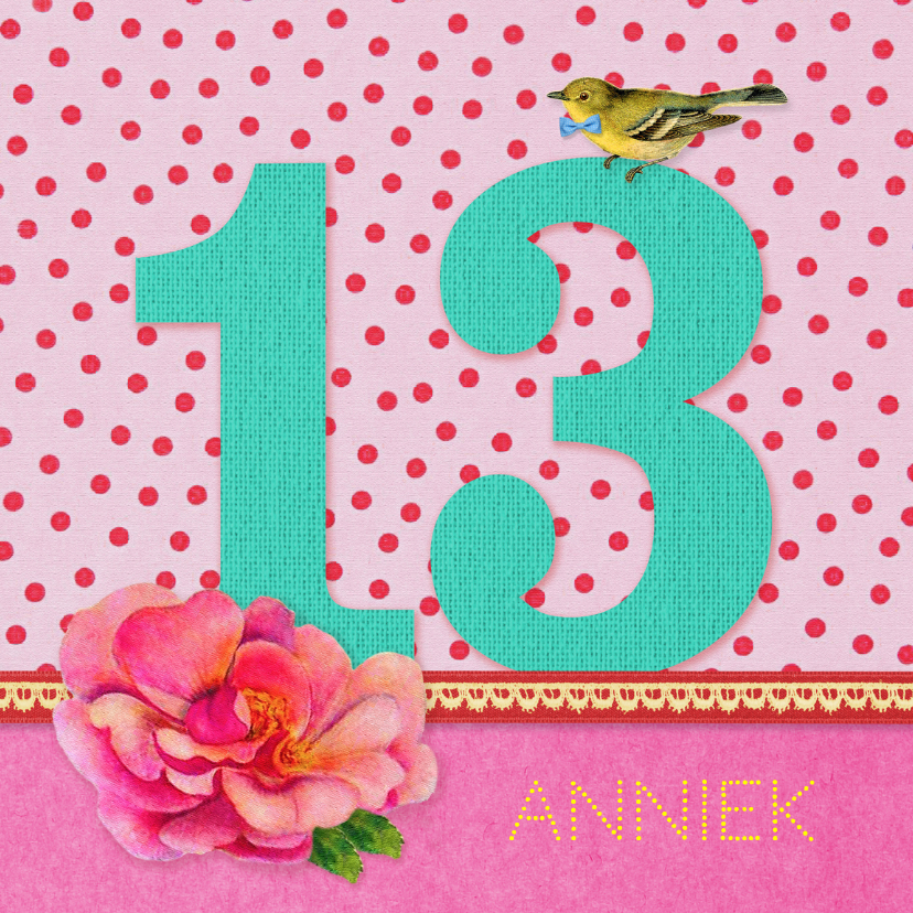 Verjaardagskaarten - Verjaardag Meisje 13