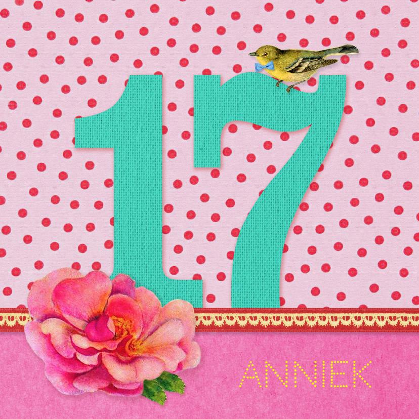 Verjaardagskaarten - Verjaardag Meisje 17